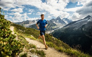 Mike Foote - Running along the Flagere before the 2012 Ultra Trail du Mount Blanc - Chamonix, France